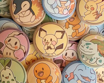Cute Pokemon Badges