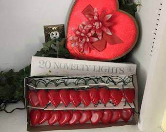 Vintage Valentine Hearts String Lights