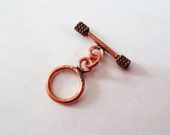 SALE! Copper toggle clasp Bali clasp Bali toggle clasp copper clasp