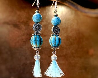"""Earrings ethnic chic and sophisticated """"Num""""-""""Stops Nepalese"""" Collection-"""