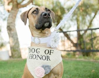 Custom Flower Color Engagement Photos Save the Date Cards Dog Bandana Dog of Honor Wedding Dog Collar Girl Flowers Wedding Accessories