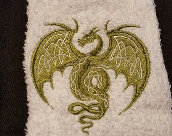 Celtic Dragon Towel