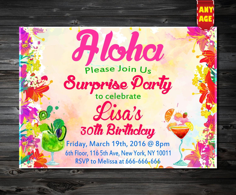 Aloha Invitaci N Invitaciones Hawaianas Luau Invitaci N # Muebles Hawaianos