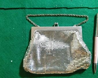 Vintage Mesh bag Silver color. Whiting&Davis