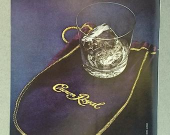 1981 Seagram's Crown Royal Print Ad