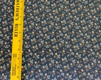 Pointe Pleasant American Textile Museum Fabric (5668) by Marcus Fabrics-Blue