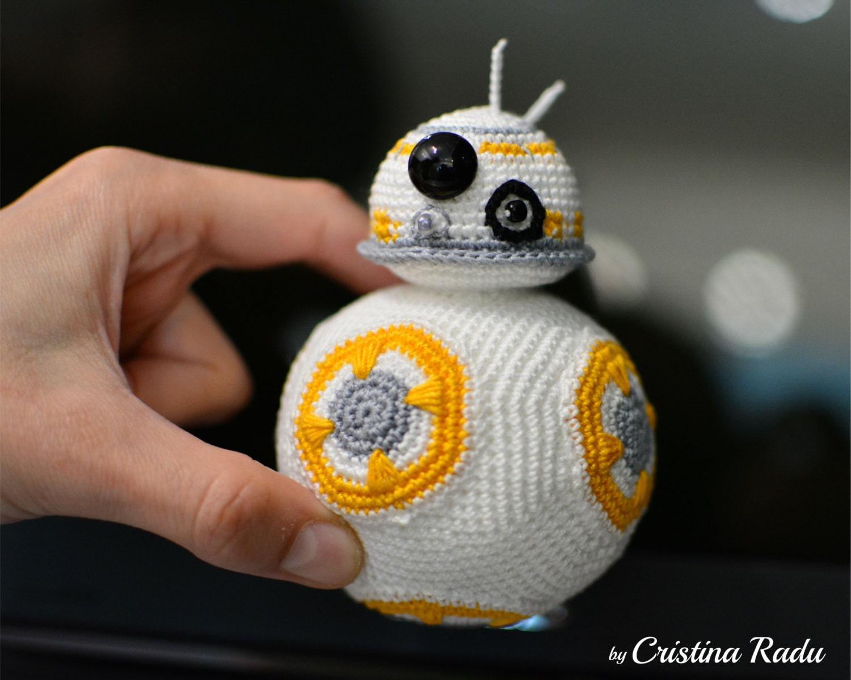 Amigurumi Star Wars : Bb plush robot toy star wars crochet star wars bb robot