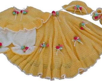 Sunshine Layette Crochet Pattern PDF