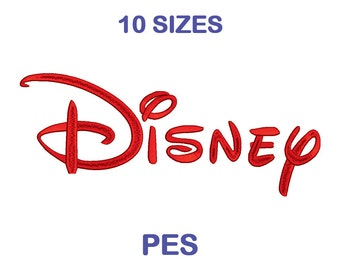 Disney Embroidery Font - 10 Size - PES Format Embroidery Alphabet - Embroidery Letters - Brother - Machine Embroidery Designs Patterns