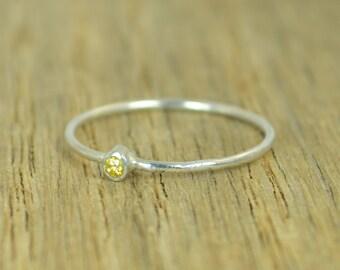 Tiny Topaz Ring, Silver Topaz Ring, Topaz Stacking Ring,  Topaz Mothers Ring, November Birthstone, Topaz Ring, Dainty Topaz Ring, Topaz