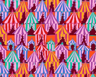 Pre-Order Brandon Mably Fabric, Glamping, PWBM066 Red, Free Spirit, 100% Cotton