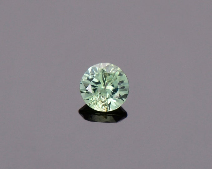 Green Sapphire Gemstone from Montana, Round, 0.47 cts., 4.5 mm.