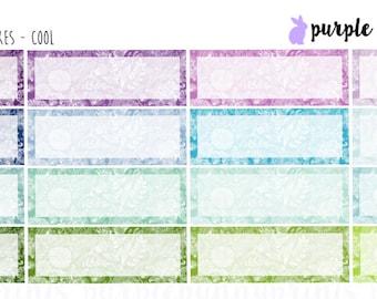 Floral Lace Quarter Boxes // Planner Stickers!