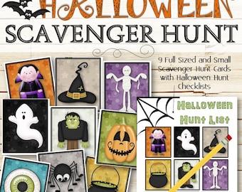 Halloween Scavenger Hunt Game - INSTANT DOWNLOAD