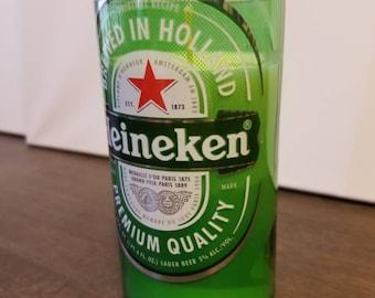 Upcycled Heineken Bottle Candle