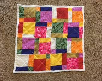 Doll Quilt: Disappearing Nine Patch