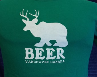 "Vintage Green ""Beer"" Vancouver BC Shirt"