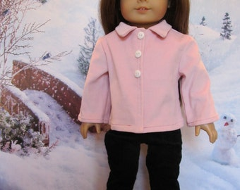 Soft Pink Pinwale Cordoroy Jacket , Fits American Girl, Our Generation and Others, Cute Fall and Winter Jacket, Winter Wear , Outer Wear