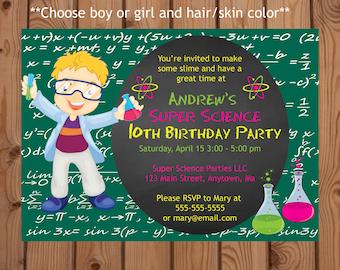 Slime Party Invitation, Slime Party Invite, Science Party Invitation, Science Party Invite, Slime Birthday Invitation