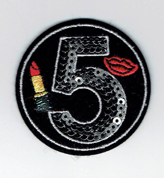 """Patch fusible trend pattern """"number 5"""""""