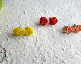 Roses Earrings, handmade