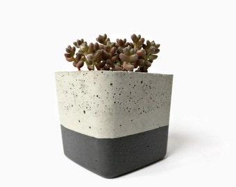 Urban Industrial Concrete Planter Gray Pot Modern Planter Cement Succulent Home Decor