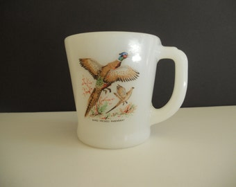 Fire King Ring-Necked Pheasant Mug