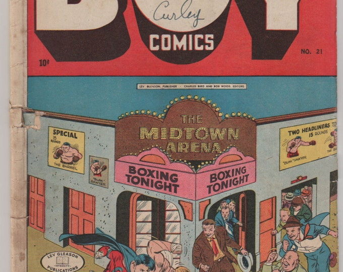 Boy Comics; Vol 1, 21 Golden Age Comic Book. GD/VG (3.0) April 1945.  Lev Gleason Publications.