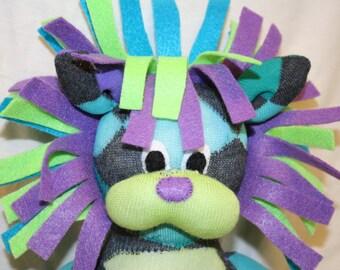 Custom Handmade Lion Sock Animal