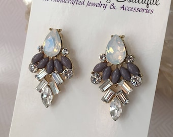 Bridal Earrings Art Deco Vintage