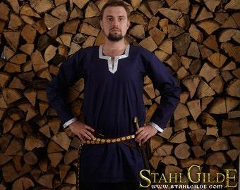 SALE -30% Cotton Viking Shirt; Fantasy Shirt, Men's Medieval Shirt; Cotton Shirt; Viking Costume, Medieval Celtic Viking, long sleeves