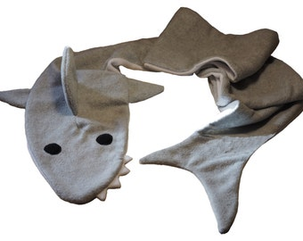 Great White Shark Fleece Scarf