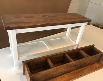 """Hallway / Mud Room / Foyer Bench (40"""") and Matching Coat Rack/ Cubbies In Your Choice of Colors"""
