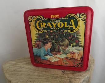 1992 Crayola Collectible Storage Tin ~ Crayon Storage Tin ~ Crayola Crayons
