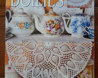 Pineapple Doilies Crochet Patterns/ Leisure Arts Tea Time Doilies, 6 Designs by Ocie Jordan/ Doily, Round, Bedspread Weight Cotton Thread