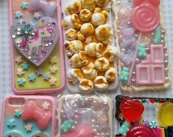 BULK SALE 16 Case Decoden PhoneCase,Kawaii Phone,iPhone Plus,iPhone,Decoden Phone,Popcorn,Samsung decoden,decoden case ,Anime case