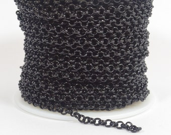 5ft Rolo Chain - Shiny Midnight Black - CH12