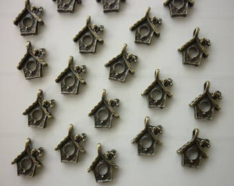 bronze birds nest 5 House charms