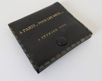Vintage French, Leather, Book Of Matches,  Paris, 1926, SHIPPING INCLUDED