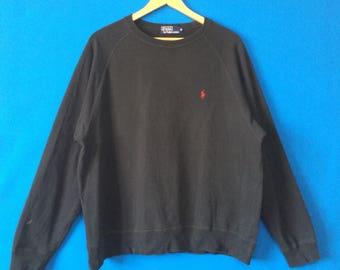 Vintage POLO RALPH LAUREN Sweatshirt Small Pony Embroidered         Logo