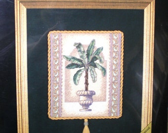 Dimensions Counted Cross Stitch Kit Elegant Palm Gold Nuggets