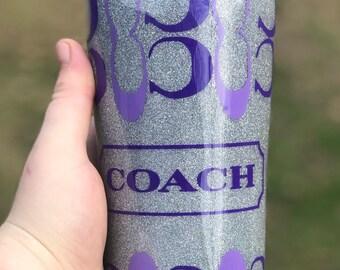 Coach Inspired Custom Coated Tumler