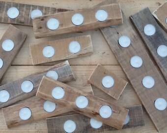 Pallet Tea Light Holders