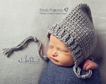 Crochet PATTERN - Crochet Hat Pattern - Crochet Pattern Baby - Pixie Hat Pattern - Bonnet Pattern - Baby, Kids, Adult Sizes - PDF 334