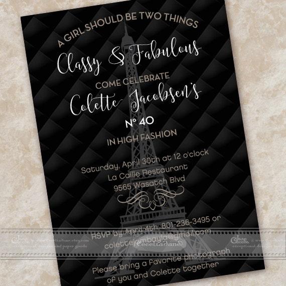 Birthday party invitations 40th birthday party invitations elegant ceceliajane filmwisefo