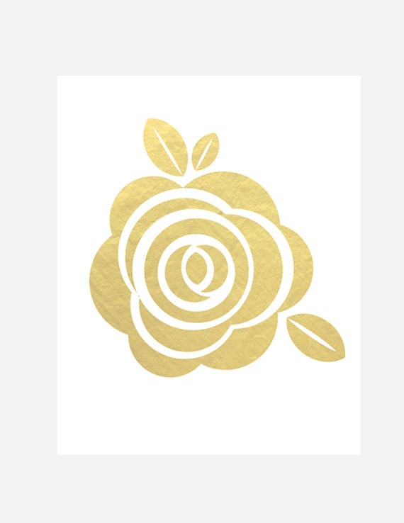 Items similar to Gold Flower Printable, INSTANT DOWNLOAD Printable ...