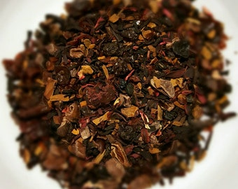 Not My Mama's Merlot, Organic Herbal Tea, Loose Leaf Tea, Wine Flavored Tea, Hibiscus, Currant, Berry Tea, Cacao Nibs, Elderberry, Vegan