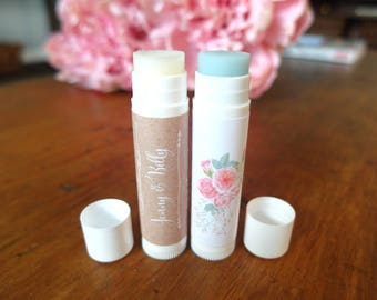 Custom Lip Balm - Rustic Wedding Favor - Lip Balm Kit - Custom Chapstick - Marketing Gifts - Promotional Products, Set of 15