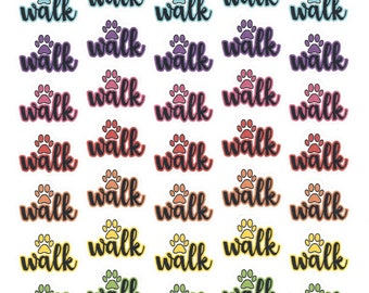 Walk (Dog) Stickers- Small || Planner Stickers