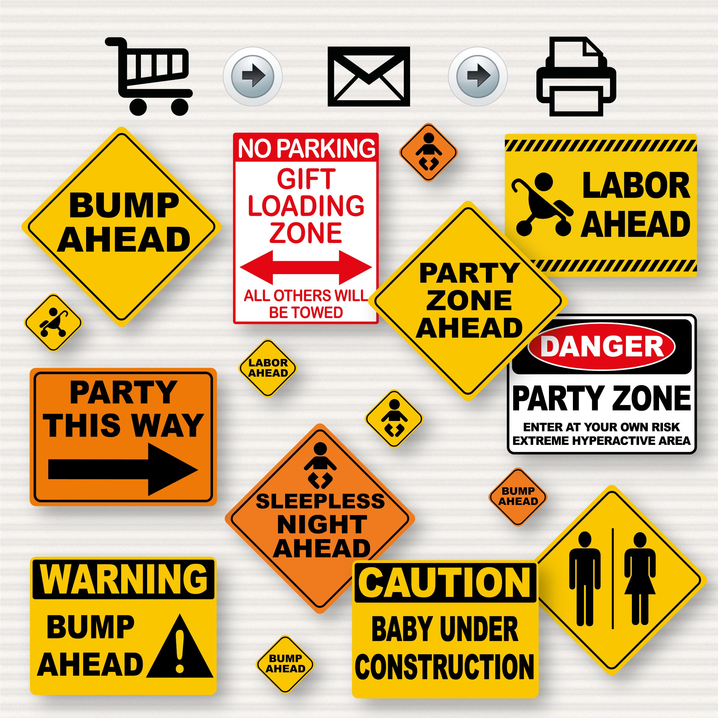 Construction Party Baby Shower Printable Signs Construction
